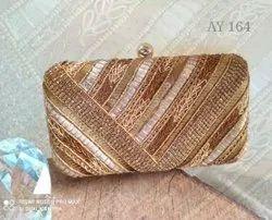 Female Gold Ladies Clutch Bag Ay 164