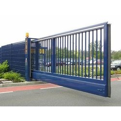 Stainless Steel Cantilever Sliding Gate, For Commercial