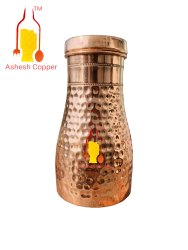 Cylindrical 1100 ml Hammered Copper Sugar Pot