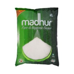 White Refined Madhur Crystal Sugar, Packaging Size: 5 Kg