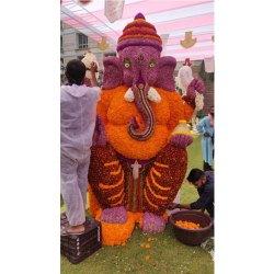 Flower Ganesh Statue Decoration Service