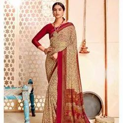 Fancy Printed Chiffon Saree
