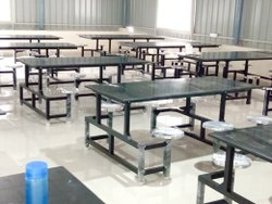 EMM ARR Dimensions: 8*2*2.5 In Feet Industrial Granite Top Dining Table Set