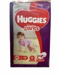 Cotton Huggies Wonder Pant, Size: Medium, Packaging Size: 54 Pants