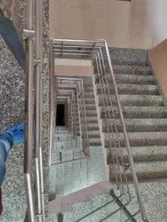 Panel Brown Stainless Steel Railing, For Hall,Balcony