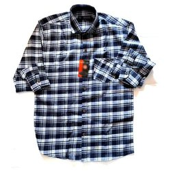 SDG Black,White Men Full Sleeve Check Shirt, Machine Wash,Hand Wash