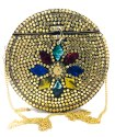 Handmade Bridal Ethnic Sling Bag Women Girl Party Round Shape Clutches Christmas Gift