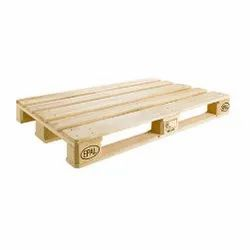 4 Way Natural wood color EPAL Wooden Pallet, For Export And Warehouse Purpose, Capacity: 1250 Kg