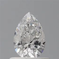 Pear 0.51 D IF Natural HPHT GIA Certified Natural Diamond
