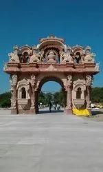 Sandstone Temple Gate Construction