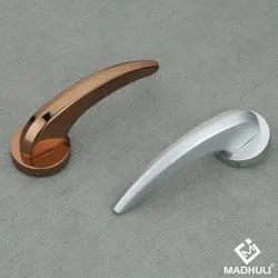 Rose Gold And Silver Fancy Type Zinc Lever Handle-04