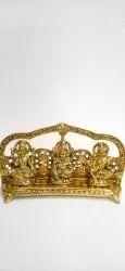 Anand Crafts Gold Plated Statue Of  Lakshmi Ganesh And Saraswati Ji'