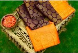 Casual Wear Printed Saree, 6 m (with blouse piece)