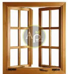 Wooden AP Wood Teak Wood Window, Rectangle