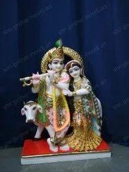 Krishna Radha Marble Statue
