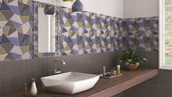 Ceramic Mosaic Digital Gloss Bathroom Tiles, 10 Pc, Thickness: 5mm