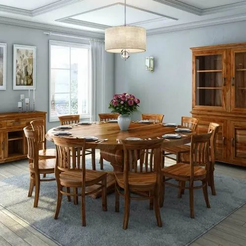 Furniture Boutiq Broteen Rustic Solid, Solid Wood Round Dining Table Sets