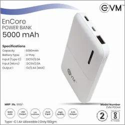 EVM Powerbank 5000 MAH White