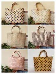 Block Printed Canvas Hand Bag