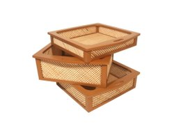 Wooden Wicker Basket