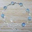 Blue Sun Stone Handmade Jewelry 925 Sterling Silver Bracelet Wb-5134