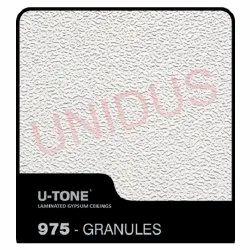 975 Granules PVC Laminated Gypsum Ceiling Tiles