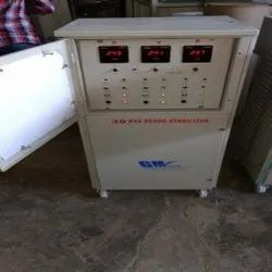 Single Phase Electronic Servo Voltage Stabilizer, For Industrial, Capacity: 30 Kva