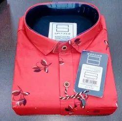 Spitzer Cotton Men's Leaf Print Shirt, Machine wash