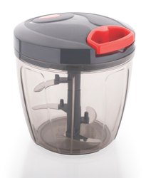 Manual Food Chopper 1000ml, Compact & Powerful Hand Held Vegetable Chopper 1000ml
