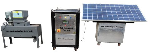 Waste to Compost Machine with Modular Solar Composting System - Semi Automatic