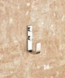 VRISHA Chrome Robe Hook, For Bathroom Accessories, Material: Brass