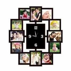 Black Wooden Clock Big, For Decoration