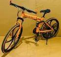 Orange Mercedes Benz Foldable Cycle