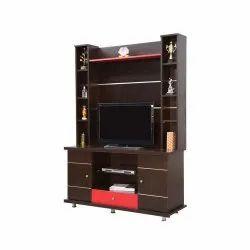 Brown Wooden Modular Plywood TV Unit