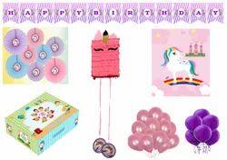 Krishvi Dreamz Unicorn Theme Birthday Party Decoration Items for Kids Girl Birthday Party 41 Pieces
