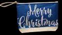 Blue  Christmas Pouch Bag