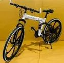 White Mercedes Foldable Cycle