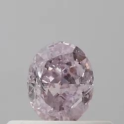 Oval 0.30 CT I1 Fancy Purple Pink GIA Certified Natural Diamond