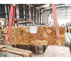 Polished Alaska Gold Granite Slab, Flooring, Thickness: 20 mm
