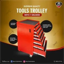 Automobile Tools Trolley With Tools