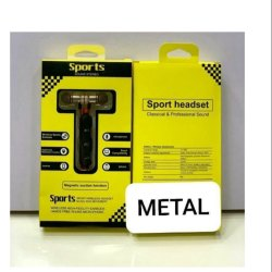 In Ear Black Sport Metal Bluetooth Wireless Earphone Headset