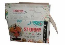 Rectangular Printed Table Fan Packaging Box