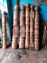 Ace Wood Crafts Wooden Railing Pillar