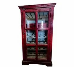 Hinged Wooden Bar Almirah, For Hotel, Number Of Doors: 1
