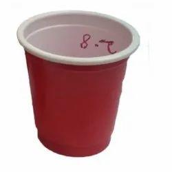 Red Plain 2.5 OZ Plastic Disposable Glass