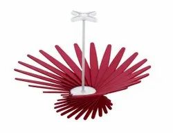 A B S Red Foldable Fruit Basket, For Home