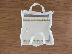 Folding White Rotto Poly Cotton Cake Bag / Rotto Cake Bag / Gift Rotto Cake Bag, For Shopping, Bag Size: 15*18