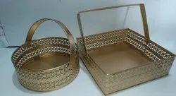 Designer Metal Basket, For Home, Size: 8*8 Inch