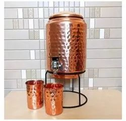 Hammered Copper Water Tank