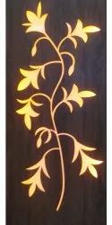 Wooden Backlight Wall Wood Design, For Decoration, Thickness: 1 Inch